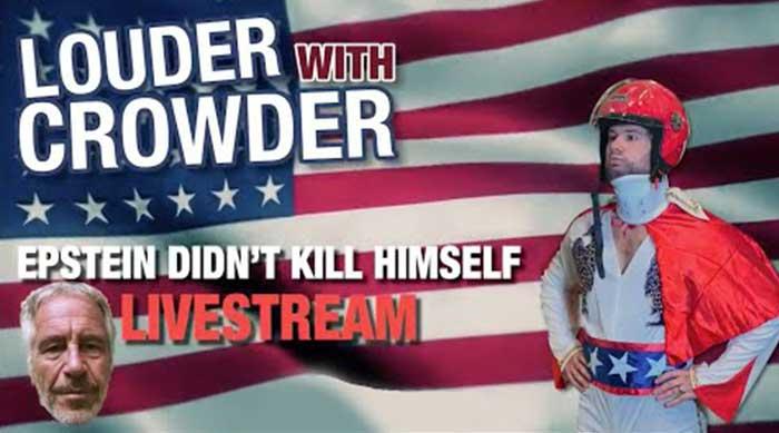 """ICYMI: Steven Crowder Tries to """"Epstein"""" Himself on Livestream"""