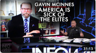 Gavin McInnes on Alex Jones Show: The Vast Majority Of America Is Sick Of The Elites