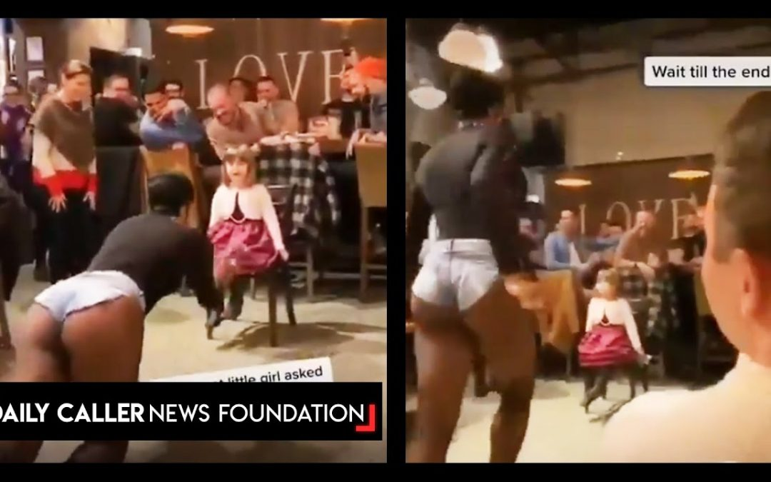 Adults Cheer As Drag Queen Dances For Little Girl