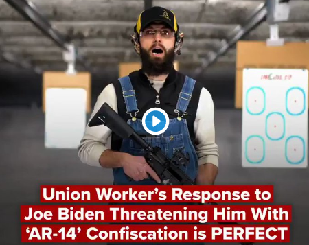 Union worker who challenged Biden on his 2A position has this message to share