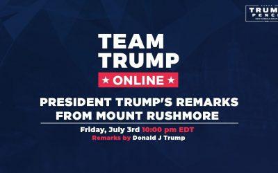 President Trump's Full Rushmore Speech